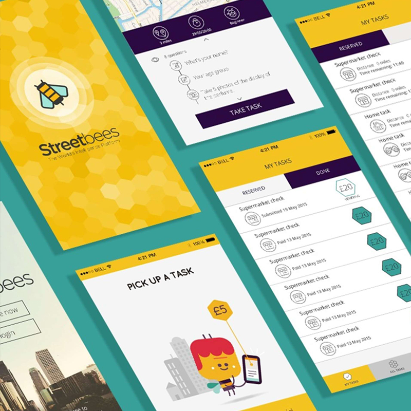 Streetbees Mobile App UI Restructure